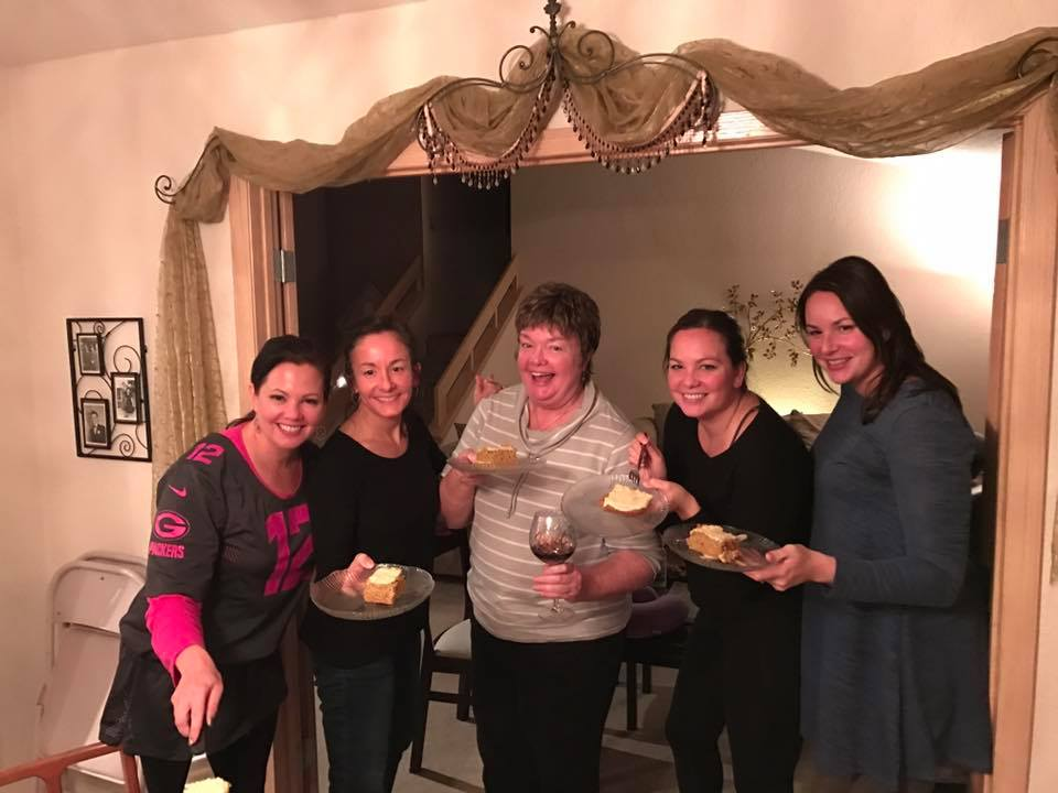 Ladies Enjoying Pumpkin Bars