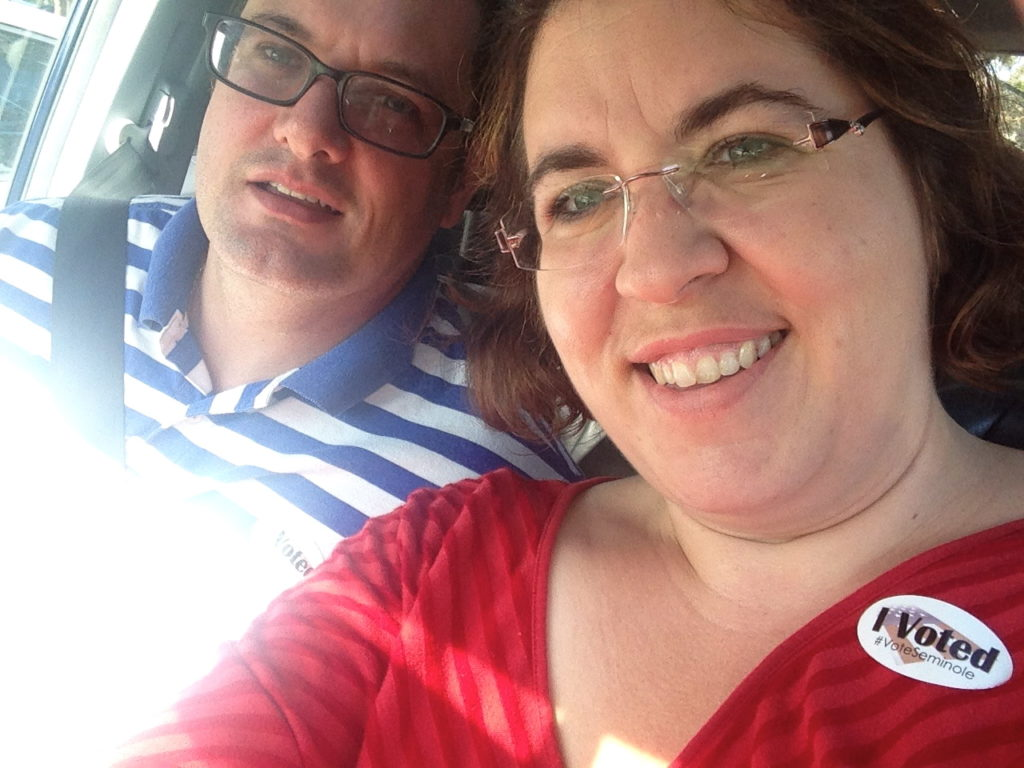 Me and Hubby Voting