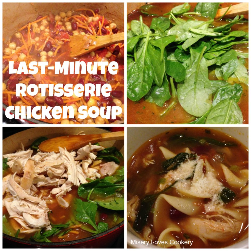 Last-Minute Rotisserie Chicken Soup