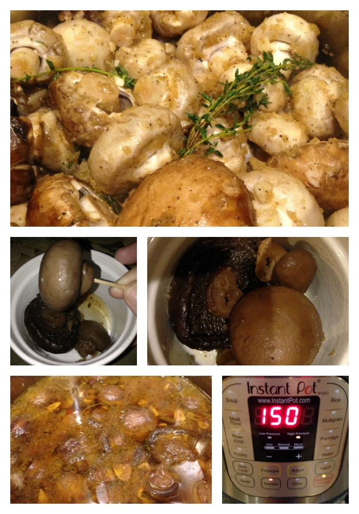 Vegetarian Instant Pot Mushrooms